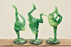 3 Stück Yoga Frösche Je 24 Cm Frosch Figuren Gymnastik