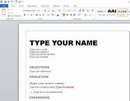 Resume Templates Microsoft Word 2010 Costumepartyrun
