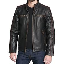 black rivet antique style leather jacket