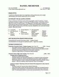 Financial Analyst Resume From Business Analyst Resume Financial