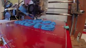 3d printing letters timelapse