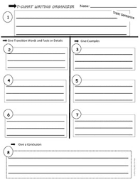 Step Up To Writing T Chart Writing T Chart Graphic Organizer
