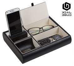 Desk Organizer Leather Desk Organizer Holder Storage Tray Dresser Wallet Keys