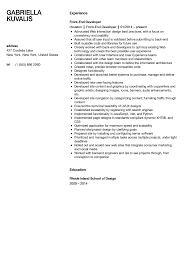Front End Web Developer Resume Yederberglauf Verbandcom
