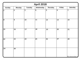 blank 2018 calendars april 2018 calendar blank 2018 printable calendar