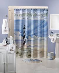 red lighthouse shower curtain lighthouse shower curtain and bathroom sets lawnpatiobarn com