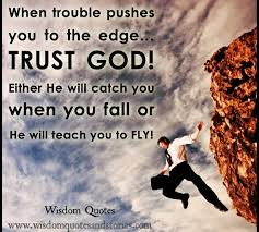 Quote About When God Pushes You To Problem