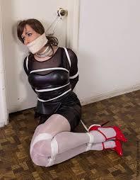 Platform pantyhose bondage femdom