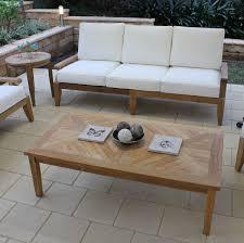 image of custom teak coffee table outdoor