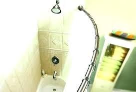 moen curved shower rod double bronze