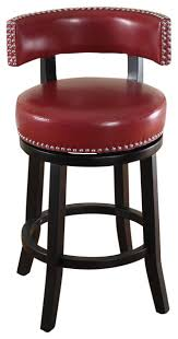 red leather bar stools. Orsino Bicast Leather Swivel Counter Stool, Red Bar Stools Houzz