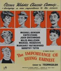 the importance of being earnest criterion reflections the importance of being earnest 1952 158