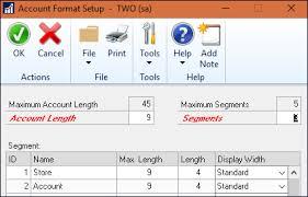 Account Segments And Chart Of Accounts Microsoft Dynamics