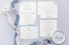 Light Blue Wedding Invitations Formal Elegant Grey Silver Light Blue Hydrangea Wedding