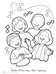 Praise And Worship Coloring Sheets Beautiful Jesus Loves Me Coloring