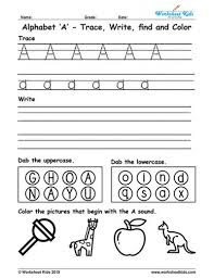 I know it probably seems strange to read that word in a title on my blog, seeing that i really i like that she can do them mostly on her own. Alphabet Letter A Trace Write Find Color Free Printable Pdf