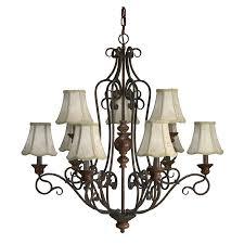 portfolio 9 bulb chandelier