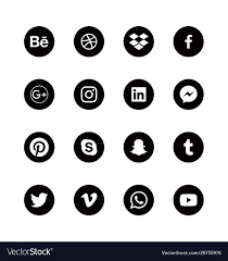 Alphabetical Order Social Media Round Black Icons Alphabetical Order Vector Image