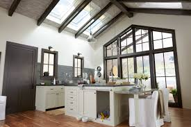 Skylight And Rooflight Blinds For Rustic Kitchen With Darkwood Ceiling  (Image 23 of 25)