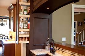 hidden bar furniture. hidden liquor cabinet kitchen traditional with bar copper hammered sink furniture