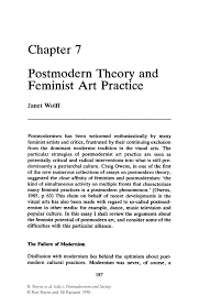 postmodern theory and feminist art practice springer postmodernism and society postmodernism and society
