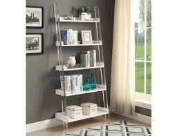 Sion Acrylic Bookshelf With White Shelves