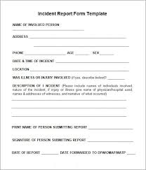 what is an incident report incident report template incident report all form templates