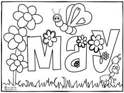 Small Picture Printable May Coloring Page Mediafoxstudiocom