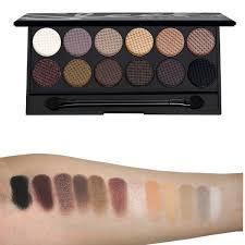 au naturel palette i divine sleek makeup swatchs