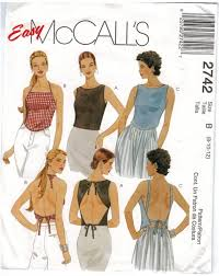 McCalls Pattern 40 Summer Tops halter wrap around Size 40 40 40 Magnificent Mccalls Patterns