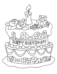 Small Picture Free Printable Birthday Cake Coloring Pages For Kids