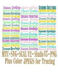 Season Greeting Word Bundle Of 45 Christmas Cut Files Mtc Scal