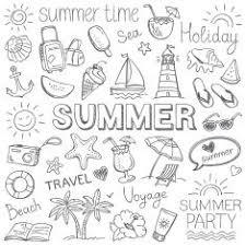 Summer Vector Art Illustration Clipart Bullet Journal Inspo