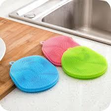 <b>1pc Silicone</b> Dish Wash Scrubber <b>Vegetable Fruit</b> Washing Practical ...