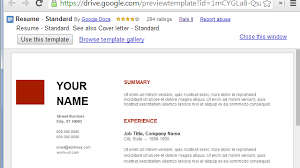 Google Resume Templates Use Google Docs Resume Templates For A Free Good  Looking Resume