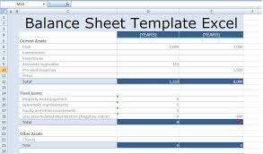 Basic Balance Sheet Template Excel Balance Sheet Template Excel Free Excel Spreadsheet Templates