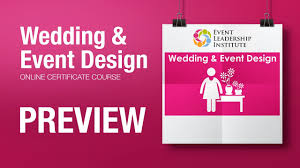 Institute Of Wedding And Event Design Wedding Event Design Online Certificate Course Preview