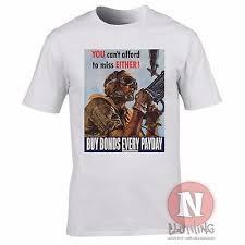 World War 2 Usa Propaganda Buy Bonds Every Payday T Shirt Military History Ebay