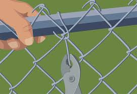 chain link fence ties. Wonderful Link Retie Patched Fencing  Repairing Maintaining Fences And Gates To Chain Link Fence Ties U