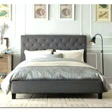 Gray Bed Frame Queen Tufted Bed Frame Queen Gray Platform Grey ...
