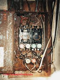 how to inspect the main electrical disconnect fuse or breaker to rusty unsafe fuse panel c daniel friedman