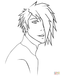 anime guy coloring pages