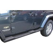 mopar side step black plastic pair 4 door jeep wrangler jk 2007 2018