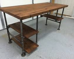 rustic wood office desk. Plain Wood Computer Desk Reclaimed Wood Office Table Rustic Barnwood  Table With 3 Shelves In Desk C