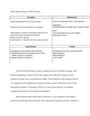A Brief of the Case  The Panera Bread     studylib net