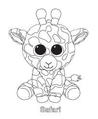 Ty Beanie Boo Coloring Pages Download And Print For Free Freya