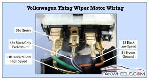 the elk an aircooled volkswagen type 182 o o wiper motor circuit wiring