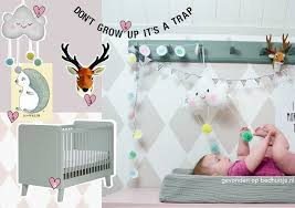 Babykamer Mint Roze Kinderkamervintage
