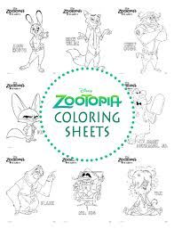 Small Picture Disney Coloring Pages Zootopia Coloring Pages