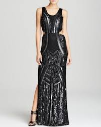 Parker Black Gown Livy Sequin Side Cutout Black In 2019